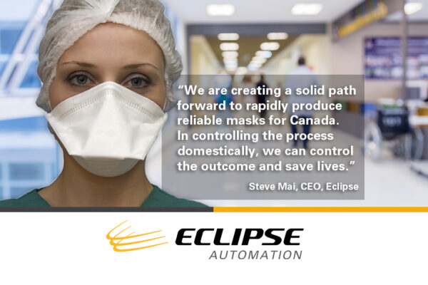 Eclipse Automation Signs Agreement for Respirator Mask Designs in Canada